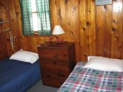 A view of the second bedroom in Cabin #11.