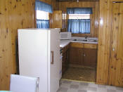 The kitchen in Cabin #15 has all modern appliances.