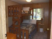 One of the bedrooms in Cabin 5.