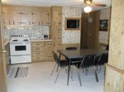 Spacious kitchen in Cabin 5.