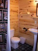 The Bathroom in Cabin #7 is clean and bright.