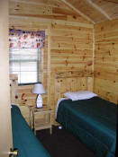 The Second Bedroom in Cabin #7 has two twin beds.